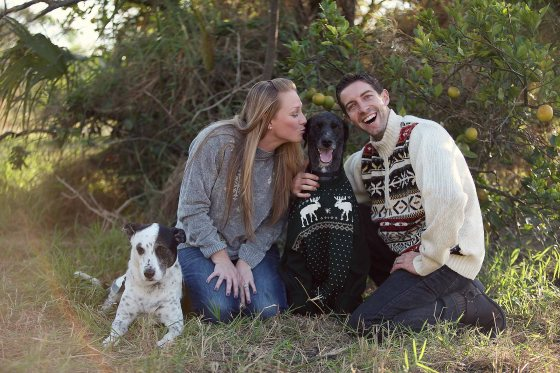 Ugly Sweater Christmas Portrait