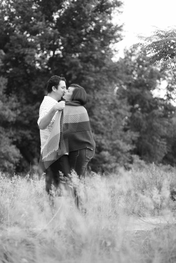 black and white grassy field engagement