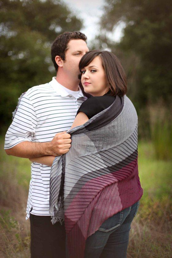 engagement session blanket wrap