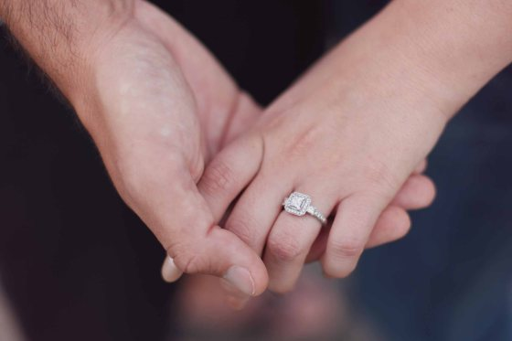engagement ring hand photos