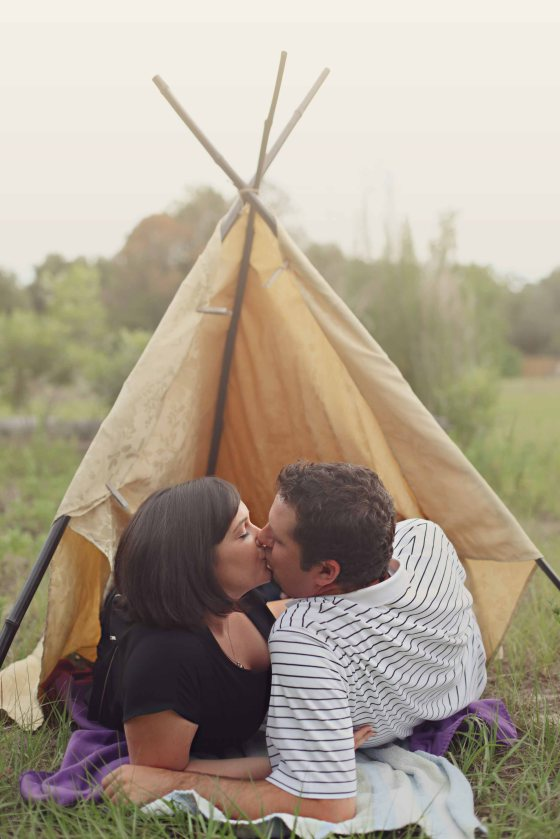 Tee Pee Engagement Pictures