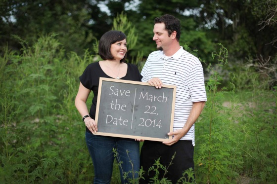 save the date chalkboard