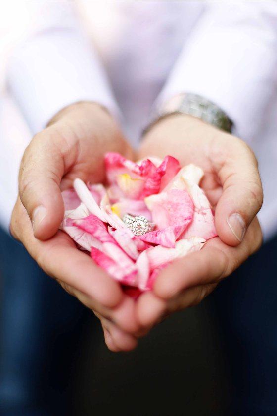 Rose Petal Engagement Ring