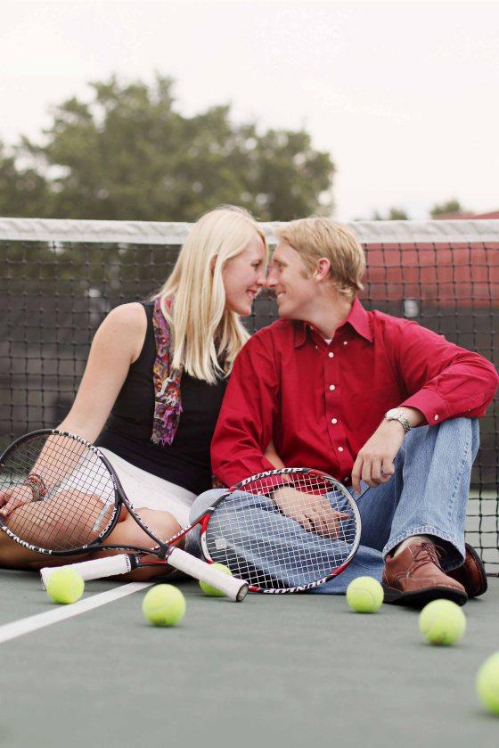 Engagement session tennis winter park photographer