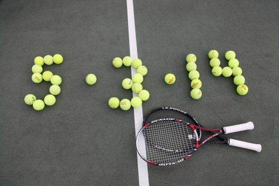 Tennis Balls Save the Date