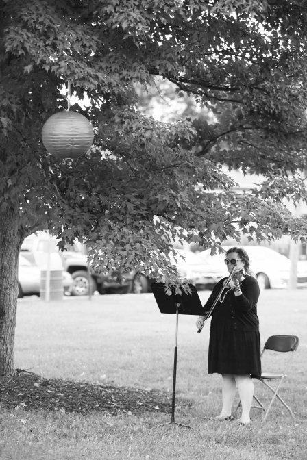 Violin player wedding